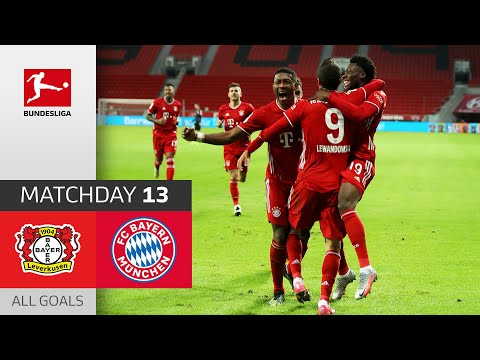 90 + 3! Lewandowski menyelamatkan Bayern   Leverkusen - FC Bayern   1-2   Semua Tujuan   Matchday 13 - Bundesliga