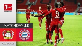 90+3! Lewandowski saves Bayern | Leverkusen - FC Bayern | 1-2 | All Goals | Matchday 13 – Bundesliga