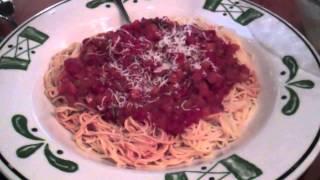 Capellini Pomodoro At Olive Garden & Chicken Gnocchi Soup, Salad