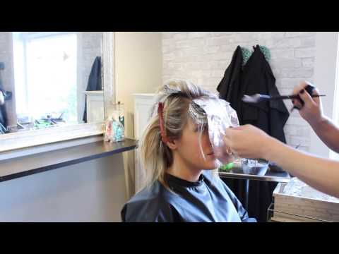 Rooted Blonde Texturized Lob Haircut