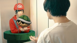 WTF!? My mirror reflection is MARIO?! | MARIO In Real Life | RATE