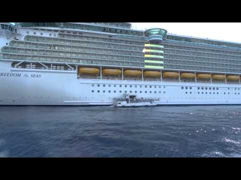 Tendering Back to the Freedom of the Seas in Grand Cayman on 2/5/15