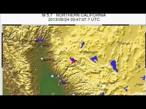 M 5.7 EARTHQUAKE - NORTHERN CALIFORNIA May 24, 2013