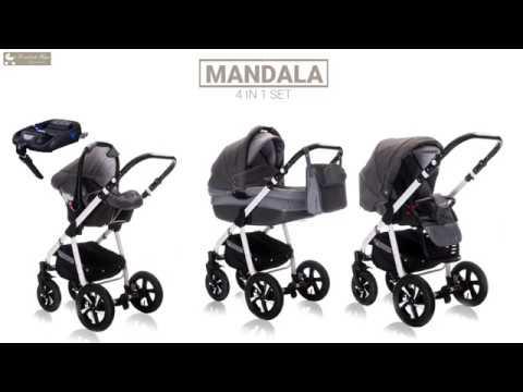 friedrich hugo mandala 4 in 1 kinderwagen mit isofix. Black Bedroom Furniture Sets. Home Design Ideas
