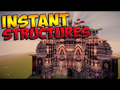 Minecraft Mods: Instant Structures - INSTANT HOUSES AND STRU