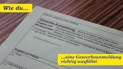 #1 Wie du eine Gewerbeanmeldung richtig ausfüllen solltest - So geht es!