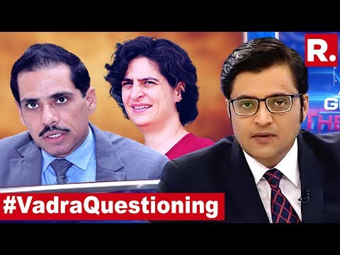 Robert Vadra, Now Officially A Congress Headache? | The Debate With Arnab Goswami