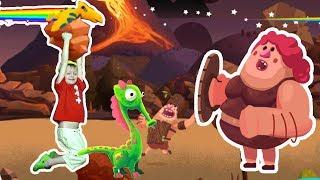 Игра про Динозавров для Детей Защищаем Яйцо от Траглодитов #21 Мультик про Динозавров Lion boy