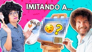 I Tried to FOLLOW a BOB ROSS' Tutorial 😧 *I've never painted before* 😰 Craftingeek