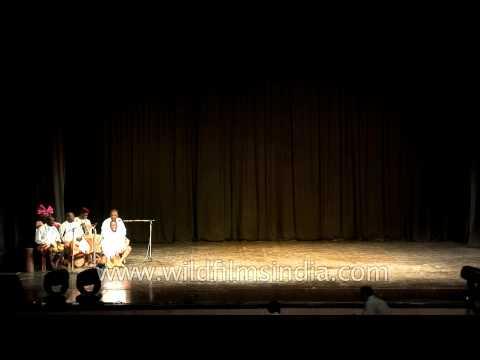 Efik Calar dancers rythming with beat of drums at African festival 2010, ...