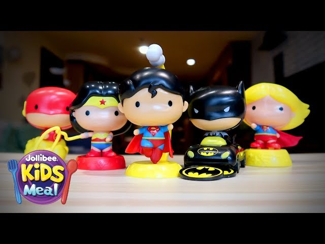 2018 Jollibee Justice League - Jolly Kiddie Meal Toys Review   Unbox Everything Philippines