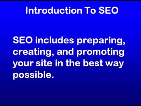 SEO Education 101 Introduction to SEO