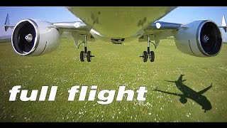 Boeing 737 MAX 8 model RC airplane full onboard nose cam flight