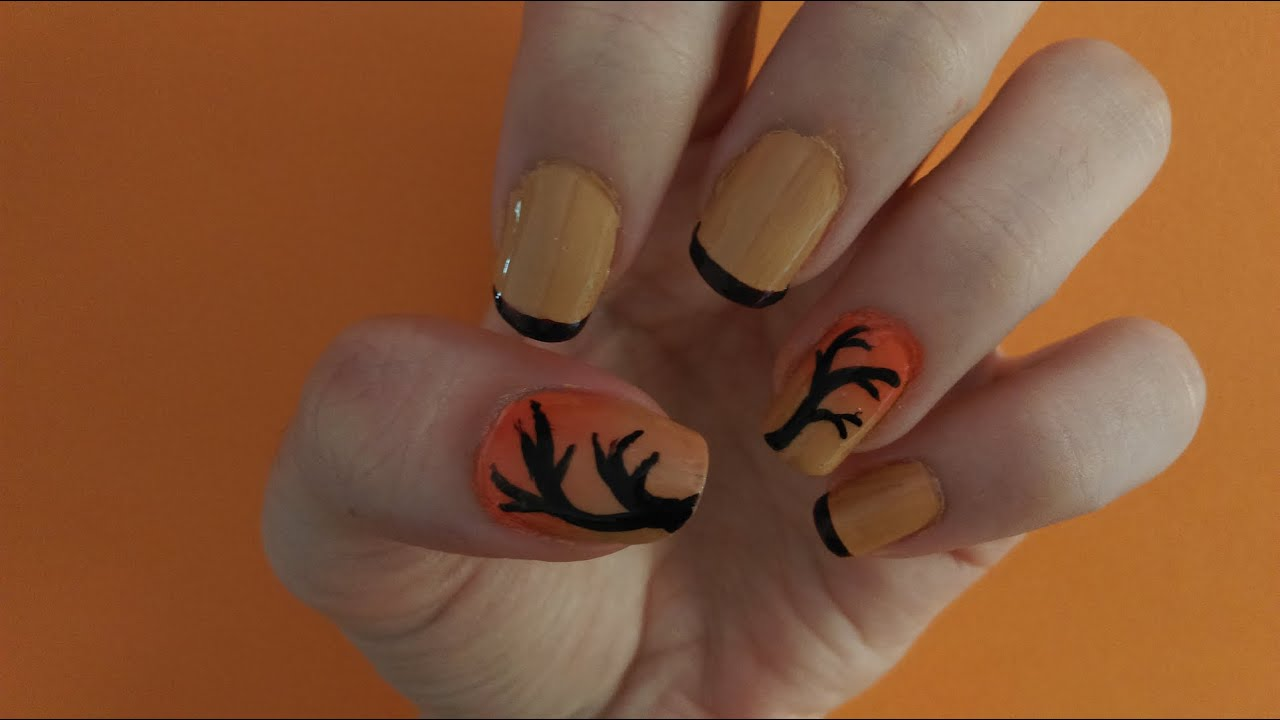 Diseño de uñas para otoño || Autumn nails 🍁🍂 - YouTube