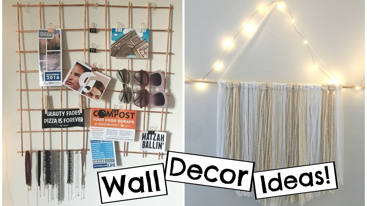 Room Dorm Wall Decor Ideas