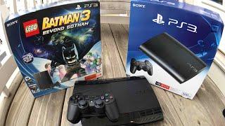 Super Slim PS3 Lego Batman Bundle Review & Unboxing (free downloadable content)