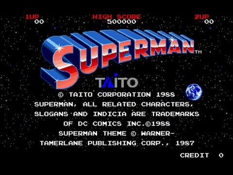 Superman The Arcade Game Play-through.