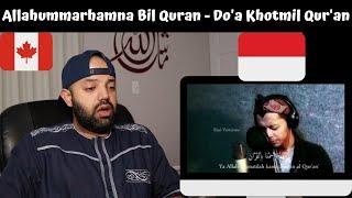 Download Lagu Allahummarhamna bil Quran - Do'a Khotmil Qur'an - Reaction (BEST REACTION) mp3