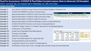 Video Excel For Accountants: VLOOKUP & PivotTables Complete Lessons: Basic to Advanced: CWU Seminar download MP3, 3GP, MP4, WEBM, AVI, FLV Juni 2018