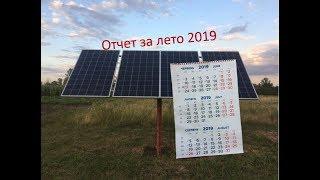 Солнечная электростанция - конец лета, отчет генерации