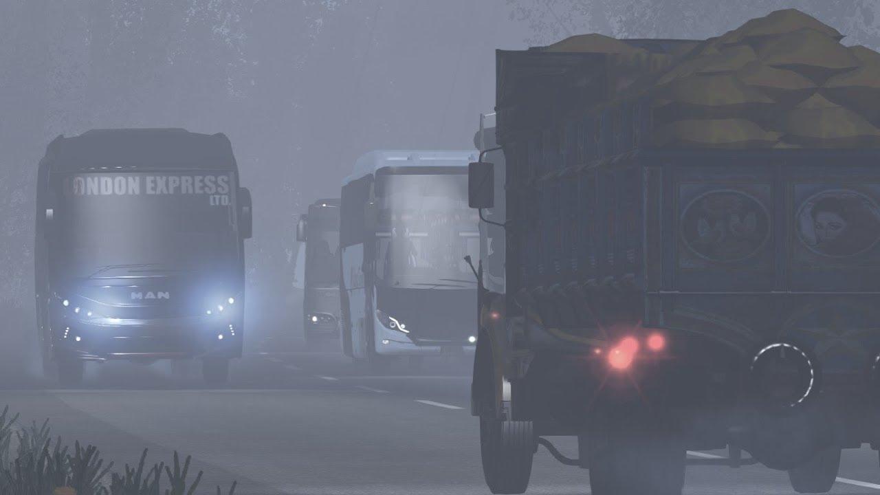 ETS2 Extreme Weather: Sylhet to Dhaka (London Express MAN R19 430)