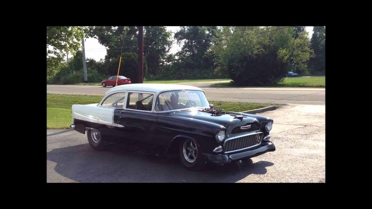 All Chevy 55 chevy for sale : Insane Blown 55' Chevy Street Legal!!!! - YouTube