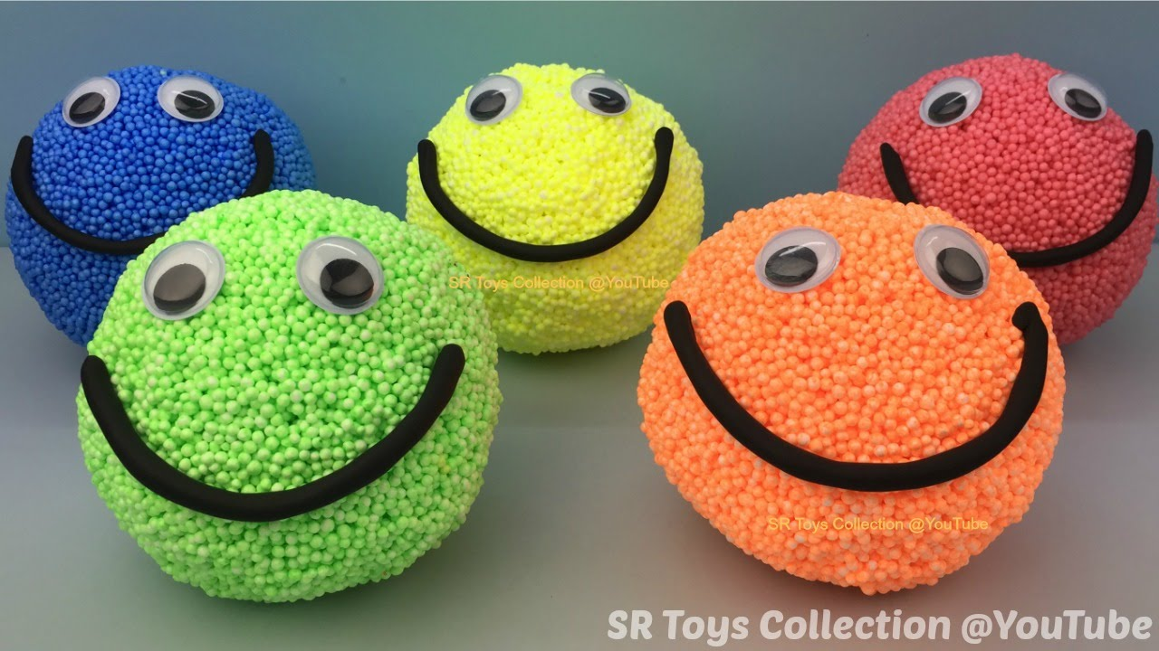 Foam Clay Smiley Face Surprise Eggs
