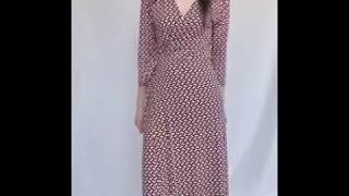 [데이로그 피팅컷] 유니크 패턴 맥시롱 랩 원피스 1c…