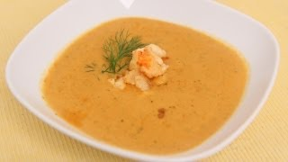 Homemade Lobster Bisque Recipe - Laura Vitale - Laura In The Kitchen Episode 490