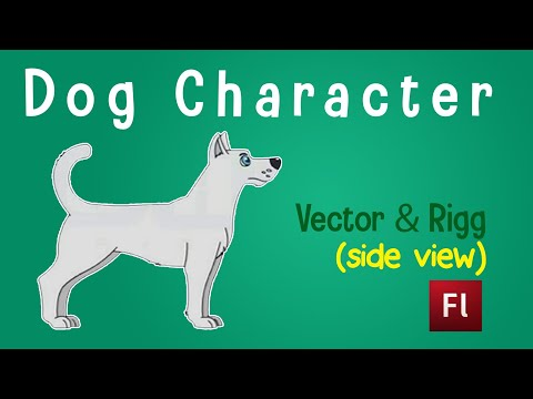 Flash Animation Tutorial - Draw Dog in Flash(Dissection)