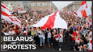 Belarus protests grow.