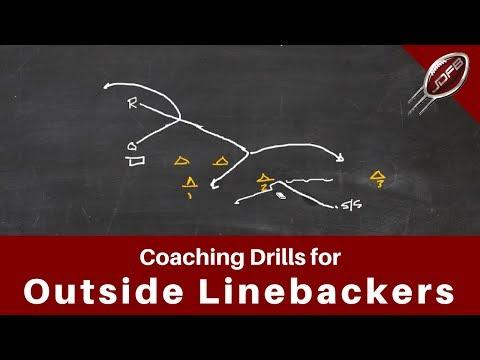 Drills for Coaching Outside Linebackers & Overhang Safeties | Joe Daniel Football Live!
