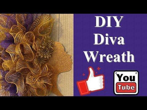 DIY Afro Diva Wreath