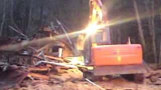 Grävare som eld gaffel