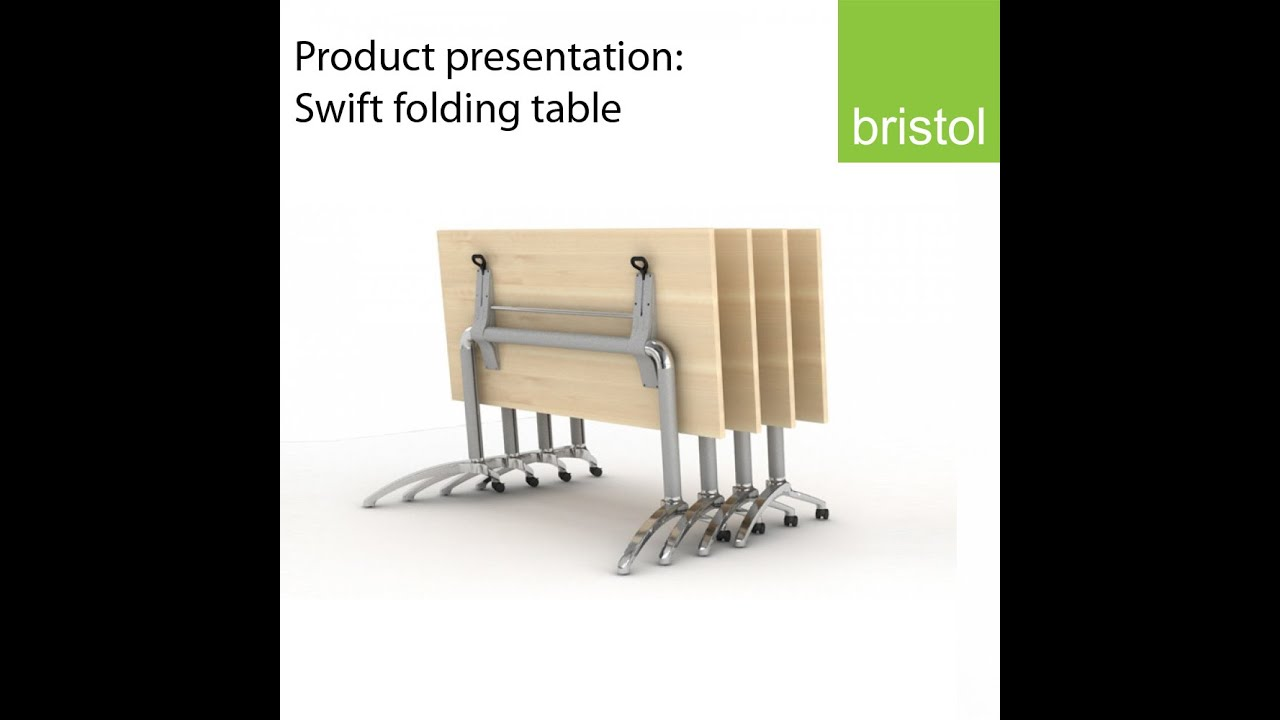 Swift Folding Table: Presentation. Bristol Furniture