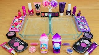 Download Pink vs Purple - Mixing Makeup Eyeshadow Into Slime! Special Series 83 Satisfying Slime Video Mp3 and Videos