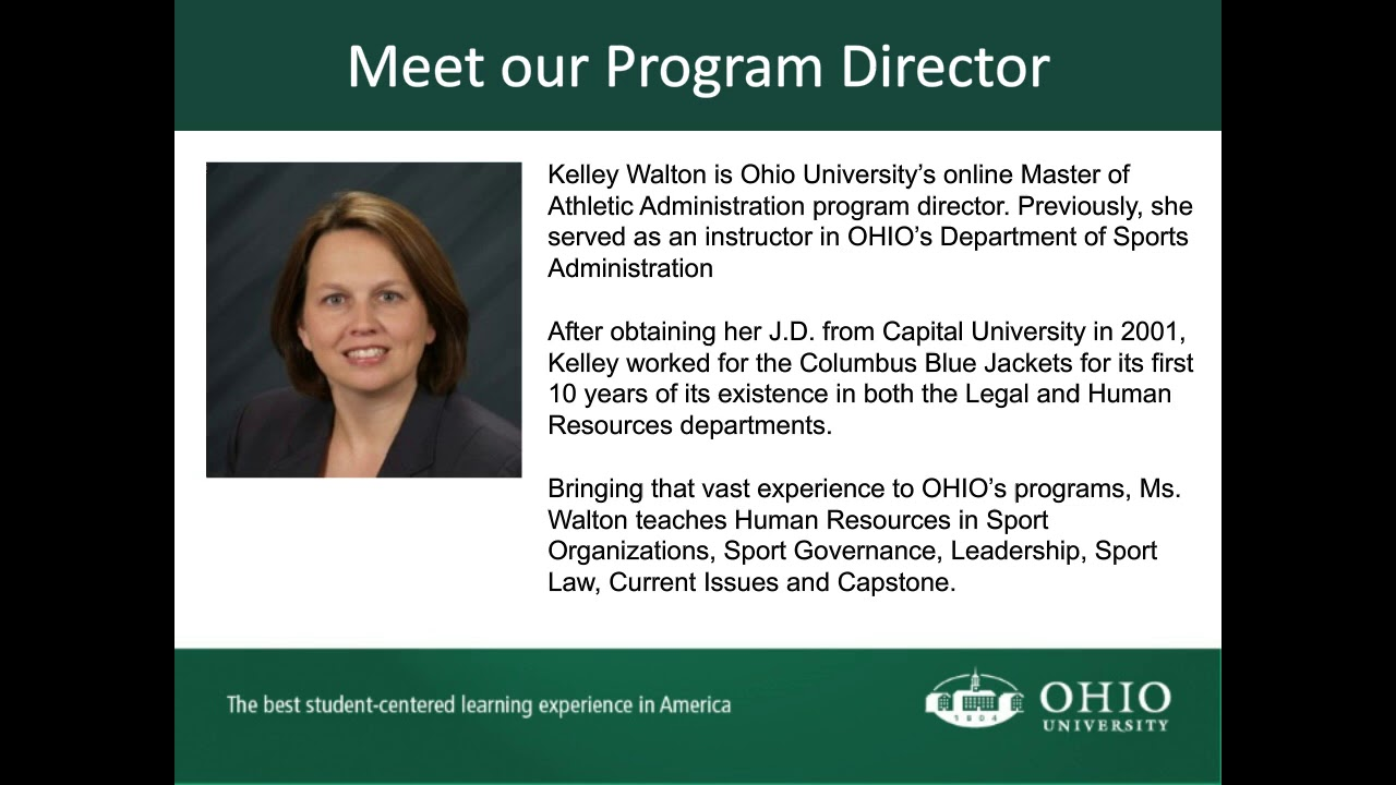 Meet Online Master of Athletic Administration Program