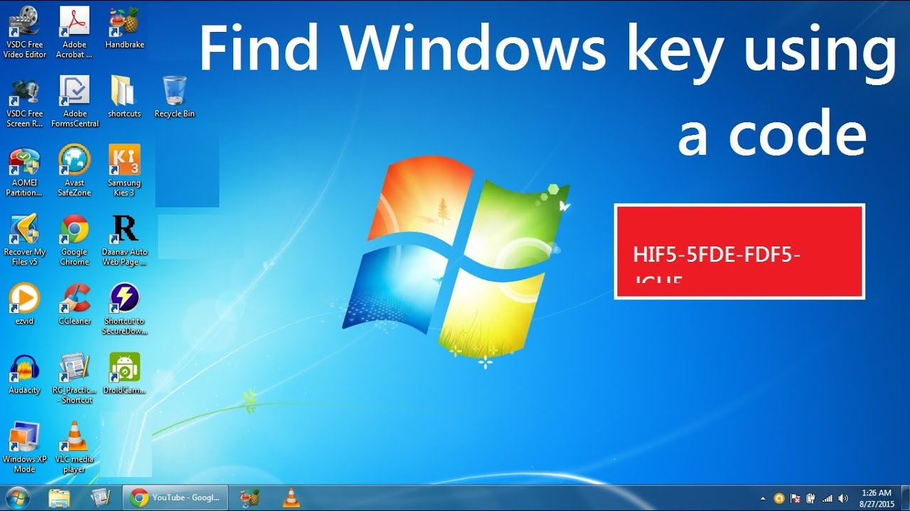 how to get product key for windows 8.1