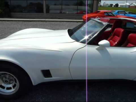 Pictures Of Corvettes >> 1981 Pearl WHite Corvette Red Int - YouTube
