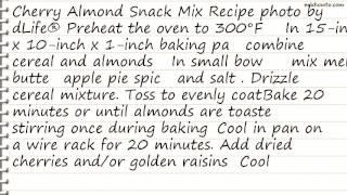 Recipe Cherry Almond Snack Mix Recipe