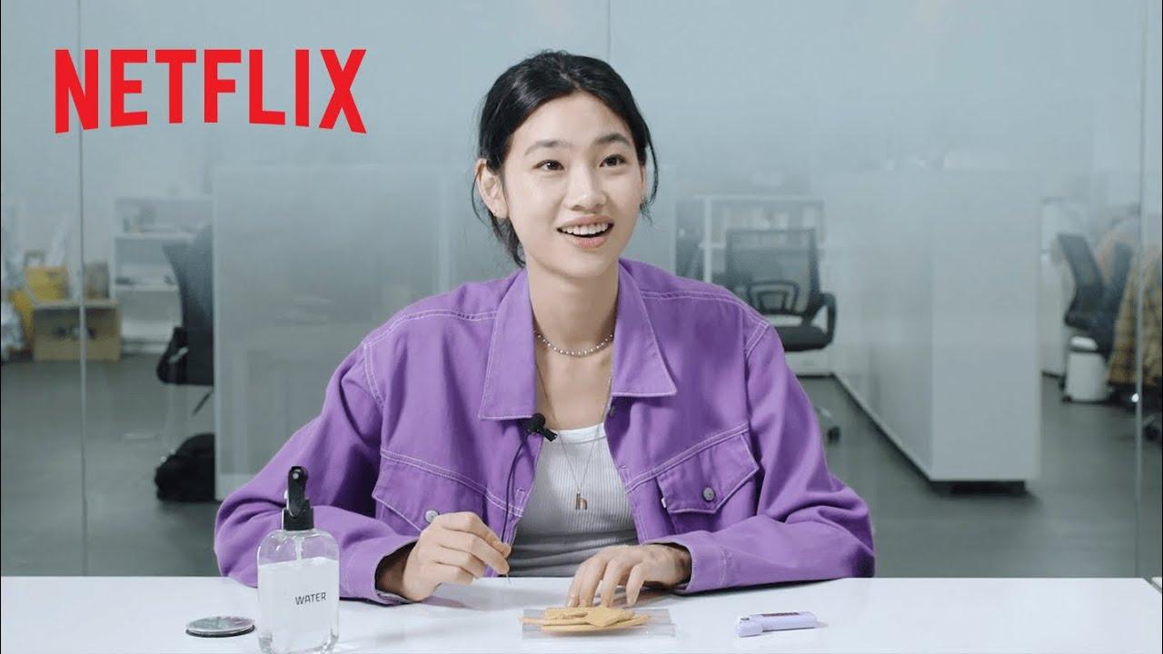 Download Squid Game Cast Tries the Dalgona Challenge   Netflix