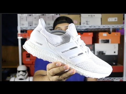 purchase cheap a280e fd352 Adidas Ultra Boost White 3M Reflective Review + On Foot!