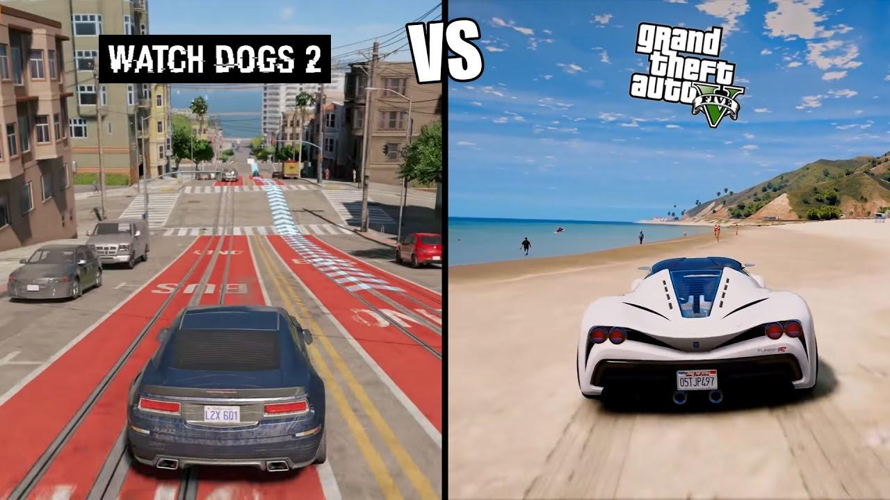 Gta 5 vs Watch Dogs 2 ... Xbox One Vs Ps4 Graphics Gta V