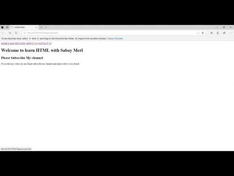 HTML Tutorial 02 Create link  page thumbnail