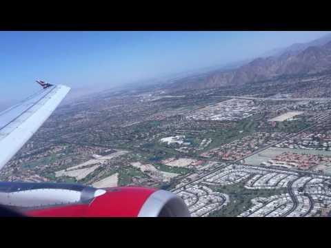 Virgin America Airbus A320 Approach/Landing Palm Springs