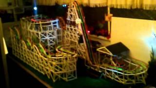 Personally Designed Wooden Model Roller Coaster