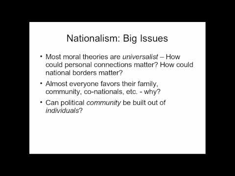 Nationalism vs. Cosmopolitanism (Part 1)