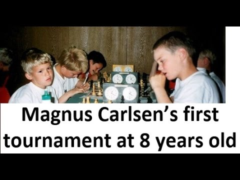 Magnus Carlsen's first tournament at 8 years old