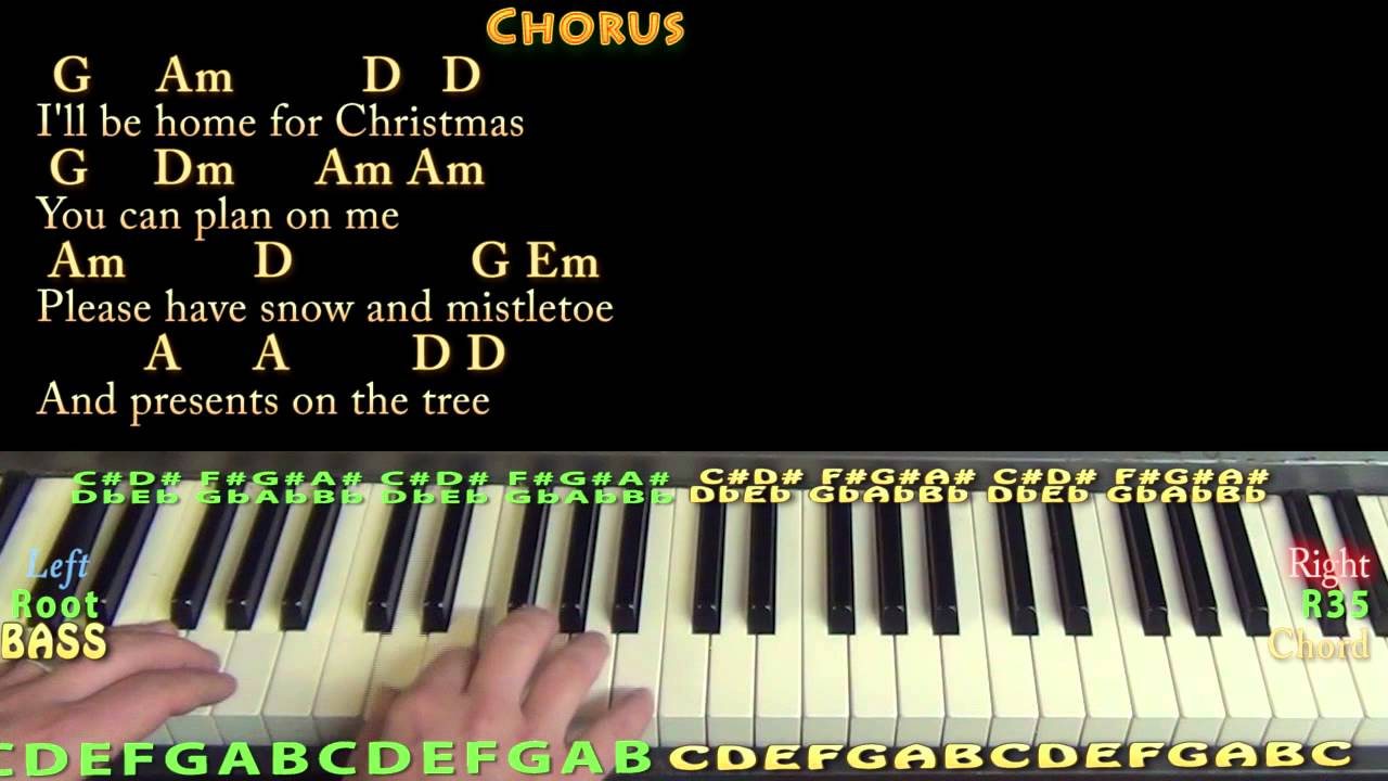 I'll Be Home For Christmas (CHRISTMAS) Piano Cover Lesson in G with Chords/Lyrics - YouTube