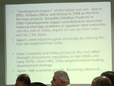 prof. Takahiro Sato - Economic dimension of India - japan Relations